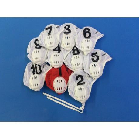 Jeu de 10 bonnets de water polo junior mini polo
