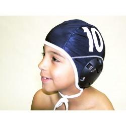 Jeu de 10 bonnets de water polo junior bleu compétition