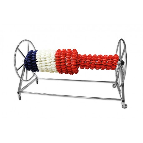 Chariot enrouleur inox electropoli - 6 lignes