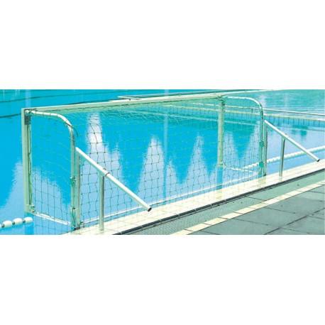 Paire de buts water polo compétition aluminium sur berges