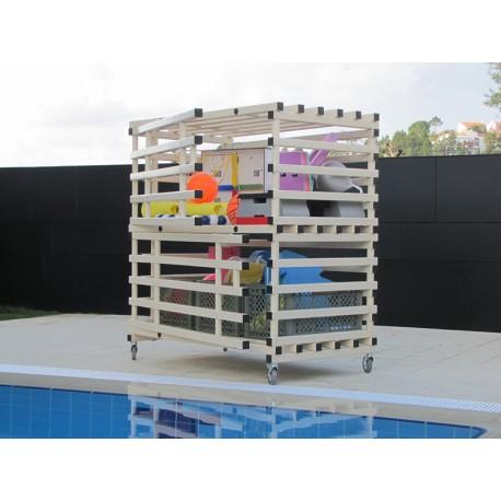 Armoire de rangement piscine
